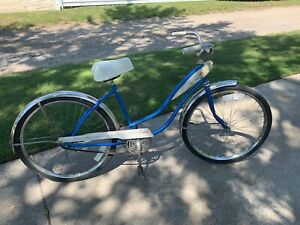 "Vintage 1950's-60's Hawthorne Bicycle Women's 26"" Tank Schwinn Sears"
