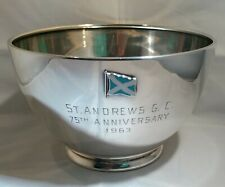 RARE St Andrews Golf Course 75TH Anniversary STERLING BOWL