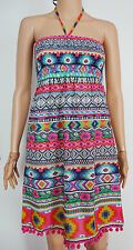 04 New Monsoon size 8 Ethnic Boho Stripe Summer Beach Holiday Dress