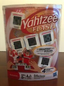 NEW ~ Hasbro Yahtzee Flash Electronic Dice ~ 4 Games In 1 ~ Wild Poker Max Pass