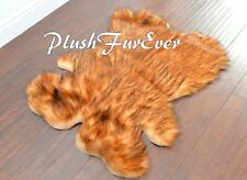 "PlushFurEver 28"" x 36"" Grizzly Bearskins Animal Skins Faux Fur Area Rugs Cabin"
