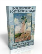 DVD - Impressionists & Post-Impressionists - over 600 Public Domain images