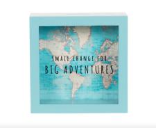 Sass & Belle Vintage Map Big Adventures Money Box Piggy Bank Travel Cash Saving