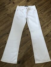 LADIES OASIS WHITE BOOTCUT STRETCH JEANS SIZE 12 REGULAR