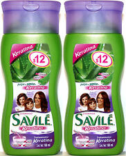 2 SAVILE Aloe Pulp & Keratin Treatment Shampoo Travel Size Pulpa Sabila Keratina