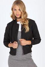 New - Supre Bridget Bomber Jacket Black - Size XXS / XS