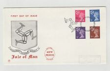 UNITED KINGDOM FIRST DAY COVER ISLE OF MAN DECIMAL NEW PENCE 07/07/1971  MINT