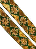 Antique Vintage Border, Embroidered Saree Trim, 1 Yard, Decorative Ribbon ST1140