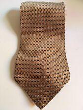 B2G1 Free Roundtree & Yorke Handmade Classic 100% Silk Neck Tie Men's Gold Geom