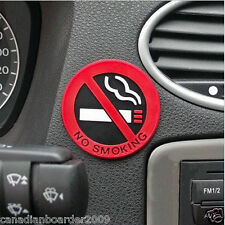"3 PACK 2"" Rubber Interior Sticker No Smoking Symbol Emblem Taxi Uber Limo Don't"