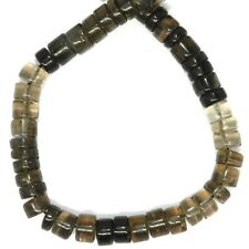 NG3073 Smoky Quartz 6mm Handcut Heishi Rondelle Gemstone Beads 14""