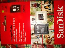 Sandisk Extreme Pro 64 GB Class 10 UHS-I 95 Mbps Read U3 V30 Micro SD Memory C..