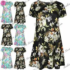 Viscose Party Short Sleeve Floral Dresses for Women