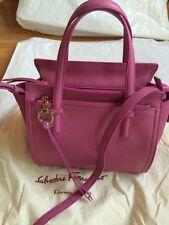 Auth Salvatore Ferragamo Amy Small Anemone Leather Handbag *1150.00*