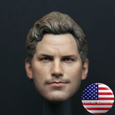 Custom 1/6 Star-Lord Chris Pratt Head Sculpt with HEADSET For 12'' Male Figure