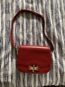 Vintage Red Shoulder Bag Made In Italy By L. Ricci For Watergate Boutique