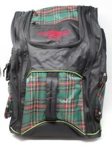 "Mountain Pro ""Everything"" Backpack Snowboarding Helmet Green Plaid"