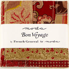 Moda FABRIC Charm Pack ~ BON VOYAGE ~ by French General 42 - 5 inch sqs