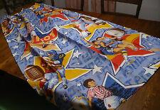 Vtg 60's Boy's Sports Curtains Drapes 48x63 Football Baseball Basketball Soccer