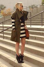 XS RARE Cynthia Steffe Millicent Military Green Parka Jacket Fur Coat Zara Blog