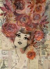Rice Decoupage Paper / Decoupage Sheets  / Scrapbooking / Roses Girl