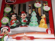 RARE Christmas Disney Mickey Minnie Pluto Inflatable Airblown Lightshow w/REMOTE