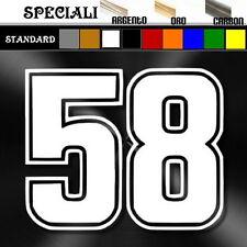 adesivo sticker 58 SIC Simoncelli prespaziato, auto tuning moto superbike,casco