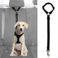 Dog Cat Pet Safety Adjustable Car Seat Belt Harness Leash Travel Clip Strap J9K9
