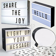 LED LIGHT MESSAGE DISPLAY BOX WITH LETTERS SYMBOLS WORD WEDDING PARTY CINEMATIC