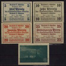 [16478]  - 5 x Notgeld NEUSTADT OS (heute: Prudnik), Kaufmännischer Verein, 5 -