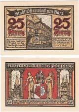 Germany 25 Pfennig 1921 Notgeld Osterwieck UNC Uncirculated Banknote
