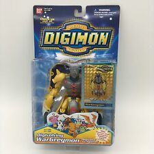 "Rare Digimon WarGreymon Bandai #3986 5"" Action Figure Mini Poster Trading Card"
