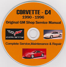 Corvette C-4 1990 -1996 Ultimate Manual Collection GM SHOP MANUAL Owners & More!