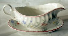 A Johnson Brothers Summer Chintz gravy / sauce boat with stand