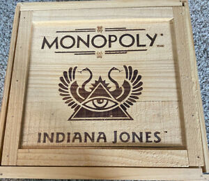 Monopoly Indiana Jones Limited Edition Complete Board Game open box