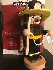 Steinbach Nutcracker Chubby Fireman Made In Germany Brand New In Steinbach Box