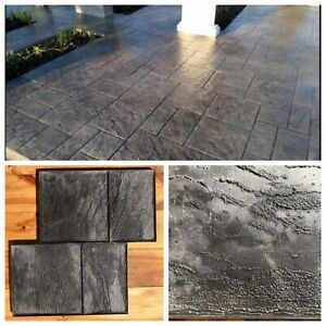 Gummi matten Beton Textur Stempel Dekordruck  Stempelbeton Strukturputz