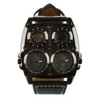 1X(Oulm Grosse Doppelbewegungen Kompass Temperaturregler Uhr  Z2Y5)