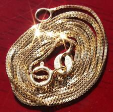"""10k yellow gold necklace 22.0"""" box link chain vintage 2.0gr"""