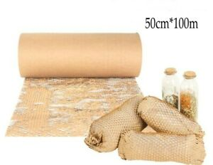 Kraft Paper Roll Honeycomb Cushioning Wrap Bubble Paper Packing Gift Box Fill
