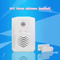 MP3 Wireless PIR Infrared Motion Sensor Doorbell Shop Welcome Chime Entry Alarm