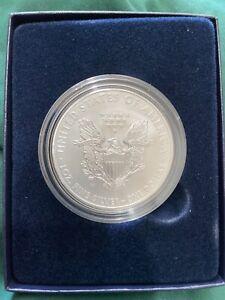 2008-W American Silver Eagle 1 oz .999 Fine Silver Dollar Uncirc Burnished w Box