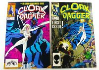 Marvel CLOAK AND DAGGER (1983) #1 (1985) #1 LOT FN/VF to VF Ships FREE!