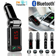 Universal 4 in 1 Bluetooth Car Kit FM Transmitter Car Charger MP3 Player USB