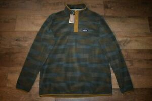 Patagonia Men's Micro D Snap T Pullover 26165 Size L (Industrial Green) NWT