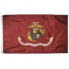 3x5 Embroidered USMC Marines Marine Semper Fi Double Sided 2ply 300D Nylon Flag