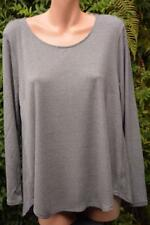 SUSSAN Dark Grey Marble TOP SIZE XL Stylish Rounded Hem NEW RRP$69.95 L/Sleeve