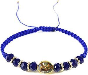 Saint Michael The Archangel Blue Bracelet Pulsera Azul De San Miguel Arcangel