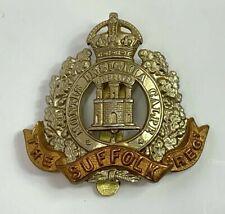 Vintage British Army Suffolk Regiment Hat Badge