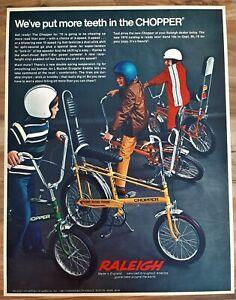 VINTAGE 1970 RALEIGH CHOPPER 5 SPEED STINGRAY ADVERTISEMENT